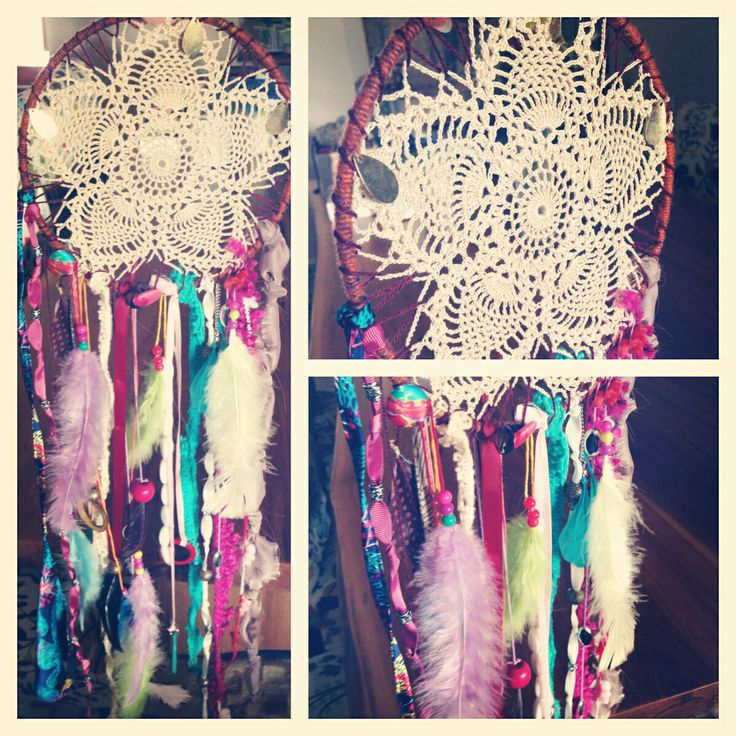 #Dreamcatcher #handmade #doily #craft #diy