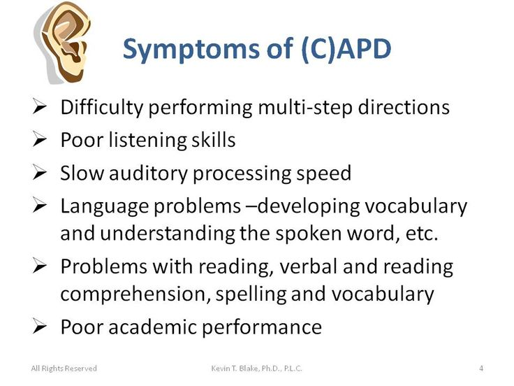 Central Auditory Processing Disorder (CAPD) Vs. Attention-Deficit/Hyperactivity Disorder (AD/HD) « Dr. Kevin T. Blake, Ph.D., P.L.C.