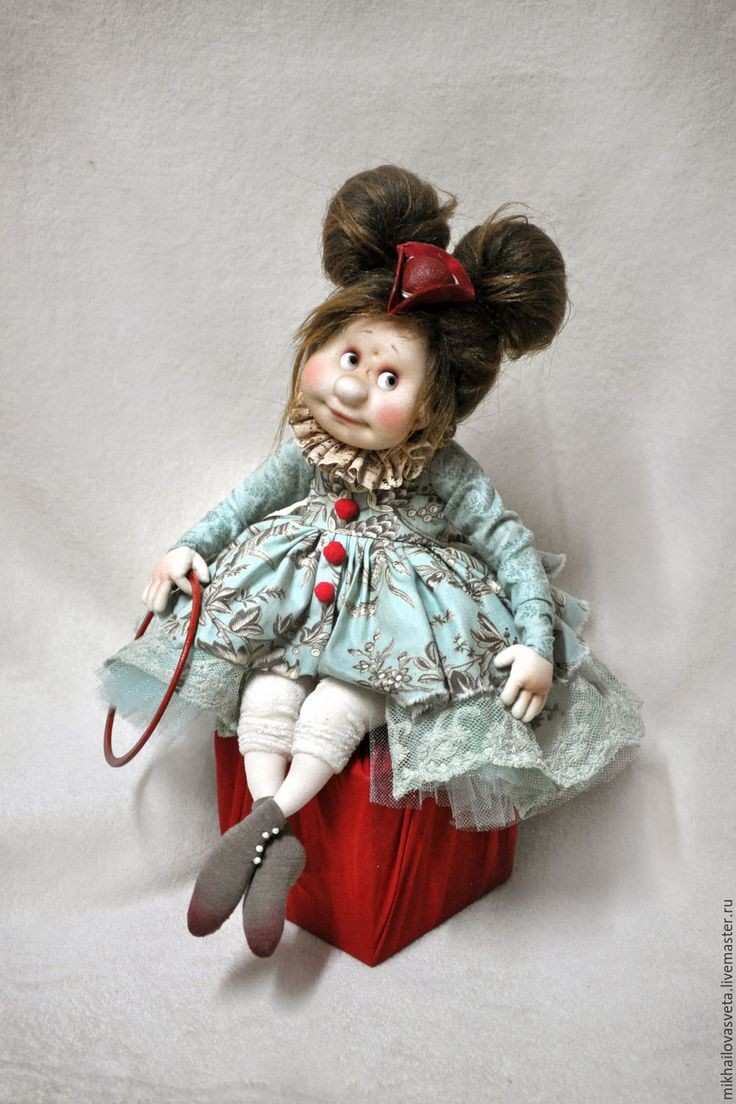 Купить Павлуша  И Ксюша - голубой, клоун, цирк, принцесса, балерина, кукла в подарок