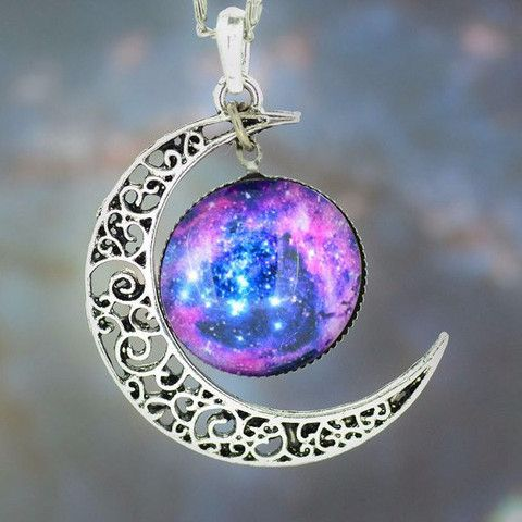 Gorgeous Galaxy Necklace from Exclusive Gems.  One of our personal favorites from our store.  All orders fulfilled within 48 hours. Plus FREE SHIPPING for a limited time only! ✈️