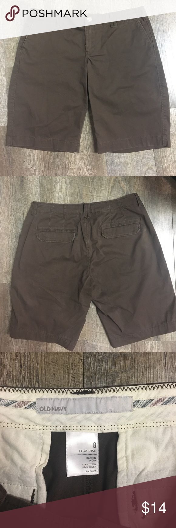 Old Navy shorts. Women's Old Navy low rise size 8 brown shorts Old Navy Shorts