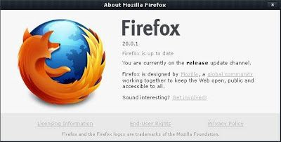 Cara Update Versi Browser Firefox dan Chrome: http://satoshi48.blogspot.com/2013/04/cara-update-mengetahui-versi-mozilla-firefox-dan-google-chrome.html