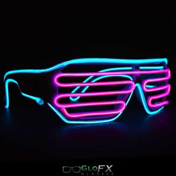 LED SHUTTER SHADES LMFAO UV PARTY RAVE FLASHING GLASSES CLUBBING LIGHT UP