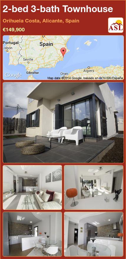 2-bed 3-bath Townhouse in Orihuela Costa, Alicante, Spain ►€149,900 #PropertyForSaleInSpain