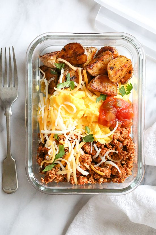Breakfast lovers, jazz up your mornings with this Meal Prep Breakfast Taco Scramble, perfect to make ahead for breakfast for the week!