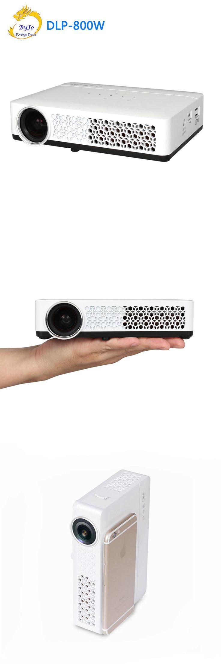 DLP-800W Mini led projector 3D 1080p Full HD projector WIFI Android Projector DLP Pocket projector Home Theater