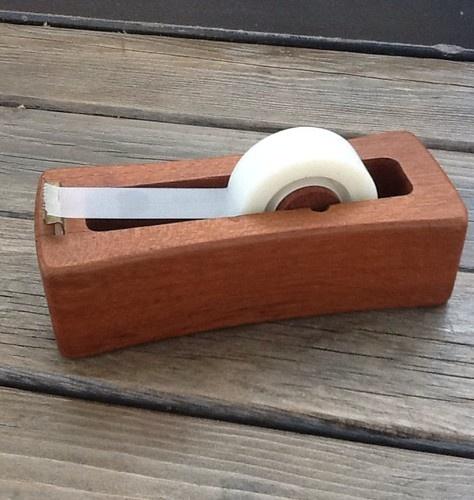 Dansk Danish Modern Mid Century Teak Roll Cutter Holder Tape Dispenser
