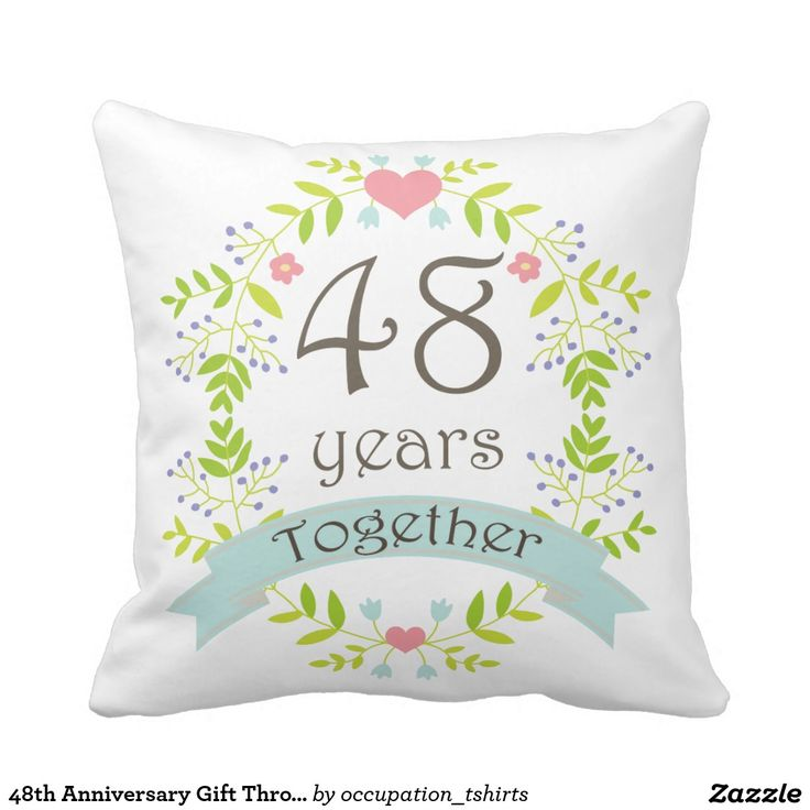 48th Anniversary Gift Throw Pillow