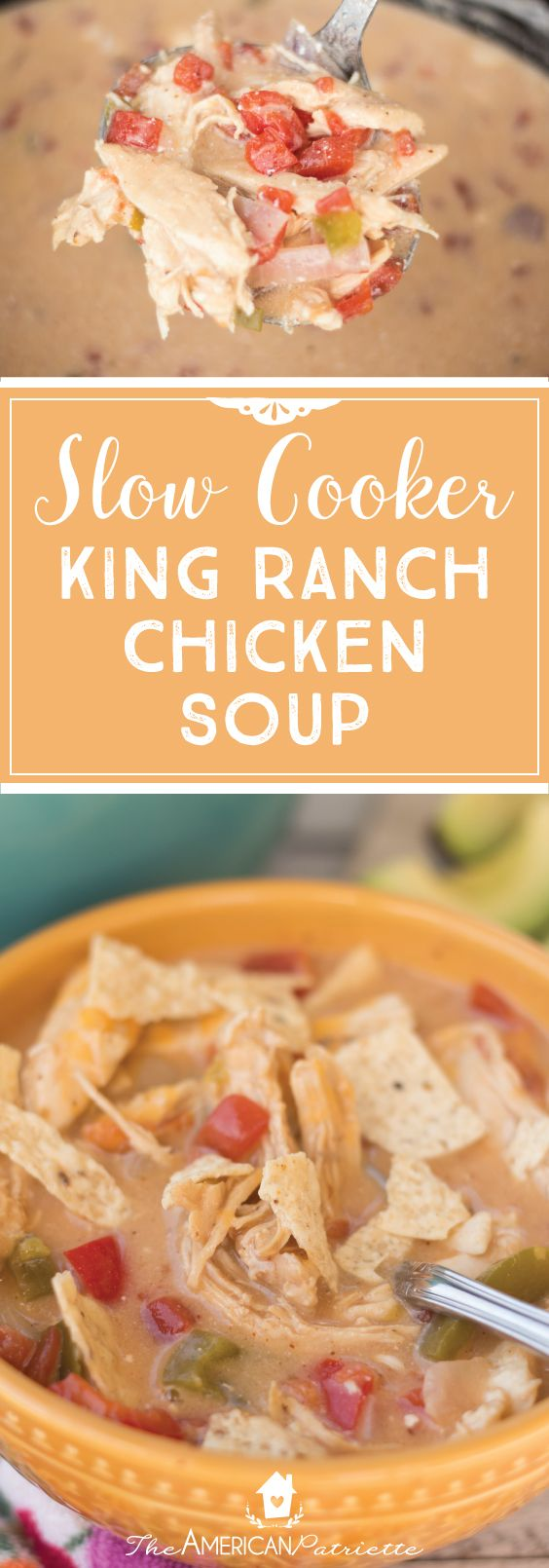 Slow Cooker King Ranch Chicken Soup; Crock Pot King Ranch Chicken Soup; Easy Slow Cooker Soup Recipes; Simple Crock Pot Recipes