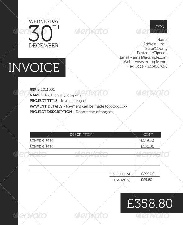 65 best invoice images on Pinterest Invoice template, Invoice - freelance invoice