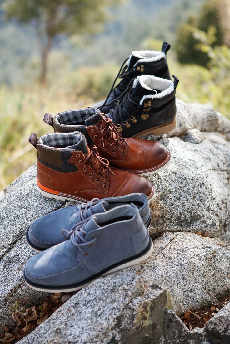 Click to shop suede, leather and waterproof TOMS Boots for men and women.