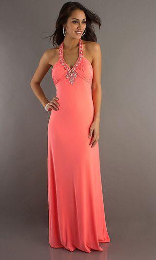 Neon Coral Prom Dresses