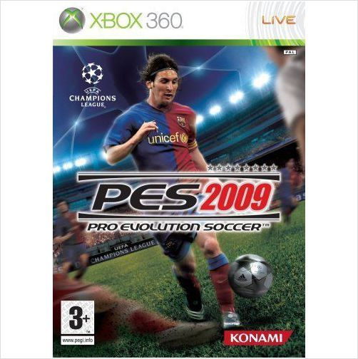 XBOX 360 PRO EVOLUTION SOCCER 2009 UEFA CHAMPIONS LEAGUE BRAND NEW SEALED £2.99+FREE POSTAGE