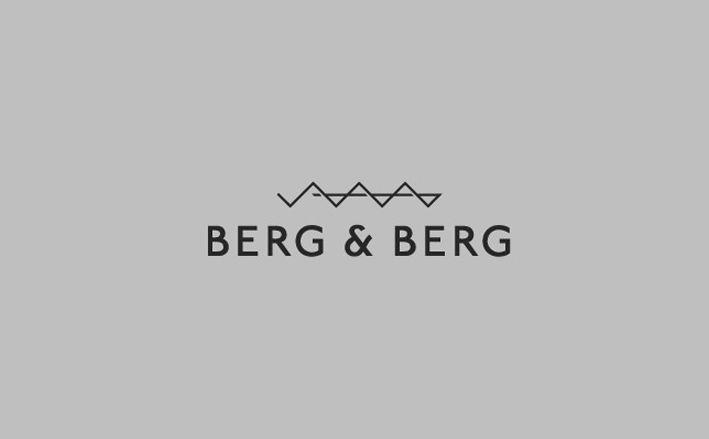 Berg & Berg logo & identity design by HEYDAYS