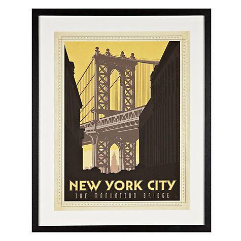 Buy Anonymous - New York City Framed Print, 65 x 52cm Online at johnlewis.com