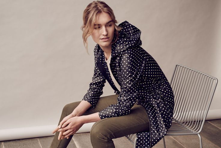 Spot Print Anorak | Combining our favourite spot print with French linen and a light weather-resistant finish, it's the perfect all-season anorak.