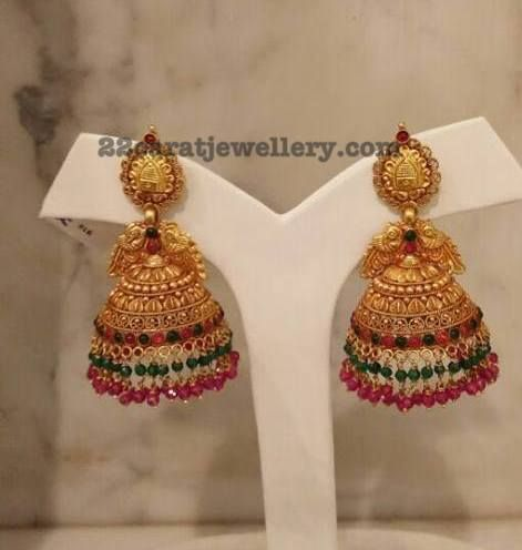 Silver Metal Chandbalis and Jhumkas - Jewellery Designs