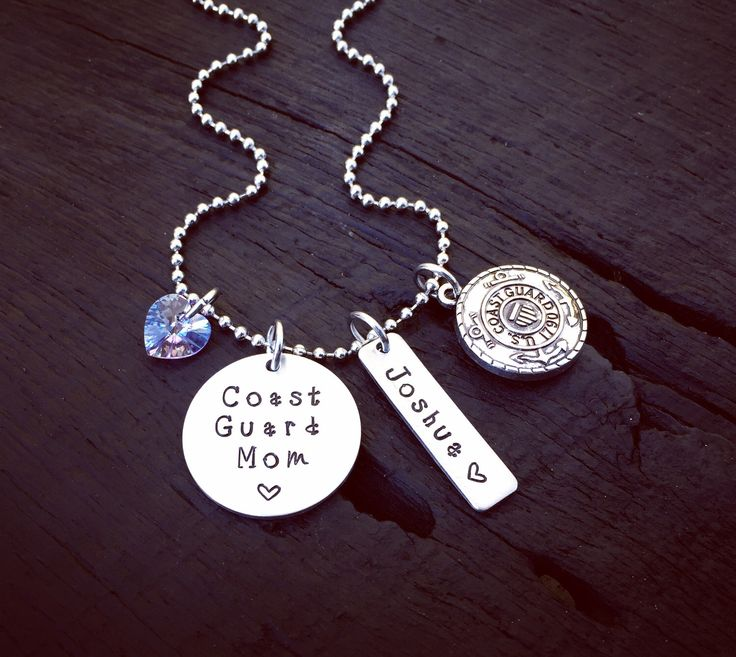 Coast Guard Mom Necklace | Coast Guard Mom Jewelry | Gift For Coast Guard Mom | Boot Camp Graduation Gift For A Coast Guard Mom | USCG Mom by SecretHillStudio on Etsy https://www.etsy.com/listing/492419129/coast-guard-mom-necklace-coast-guard-mom