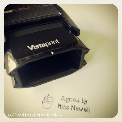Use Vista Print to make Teacher Stamps!