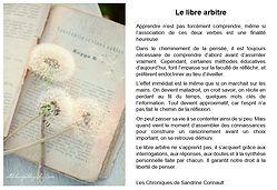 Le libre arbitre par Les Chroniques de Sandrine Connault