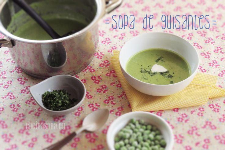 Sopa Cremosa de Chícharo o Guisantes on Cocina Sana
