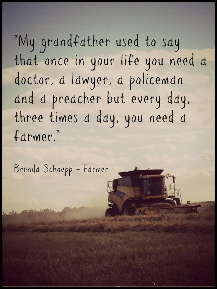 Support farmers. Buy local.