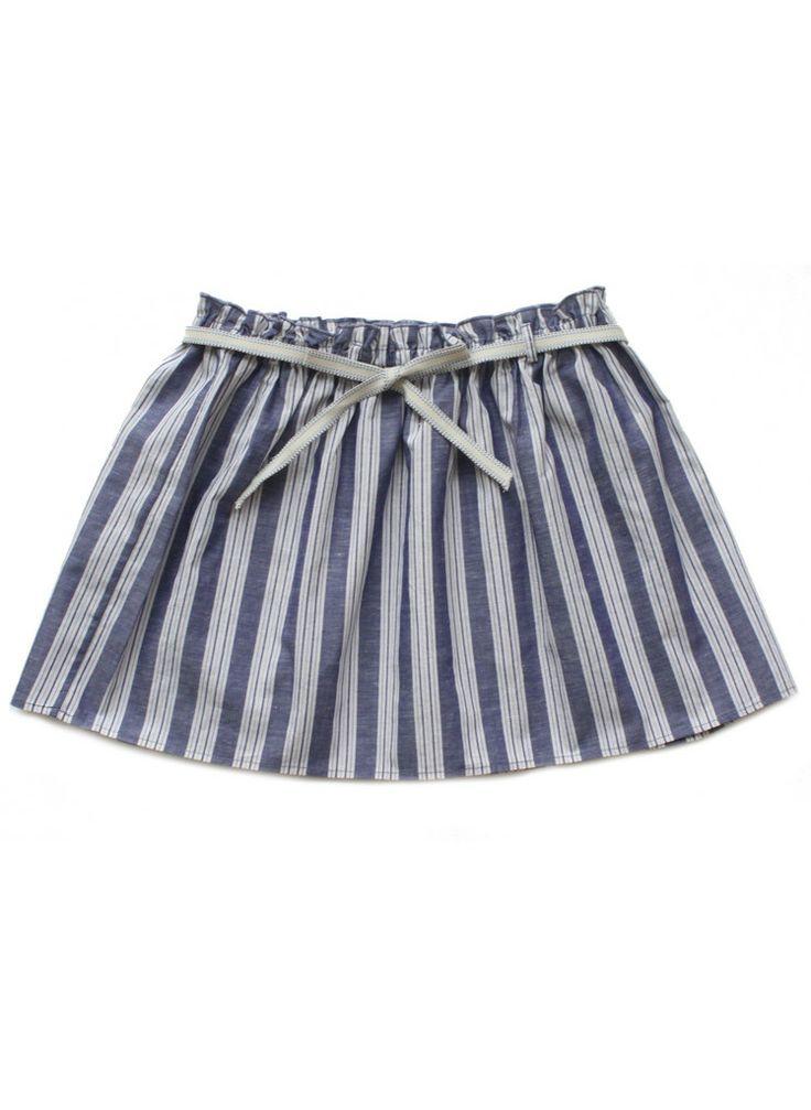 Babe & Tess Girls Pinstripe Skirt