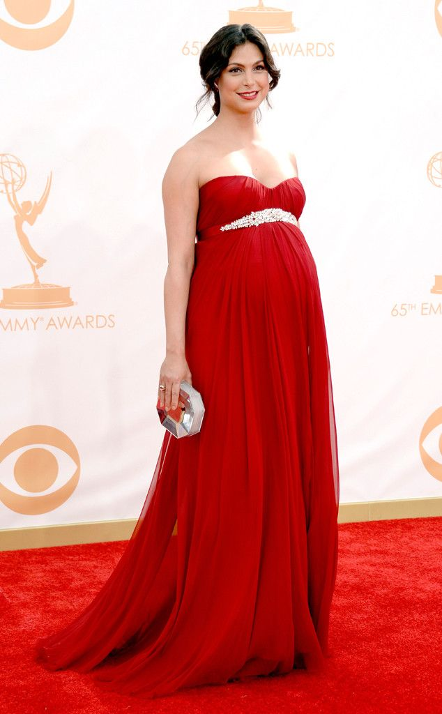 Morena Baccarin from 2013 Emmys: Red Carpet Arrivals | E! Online - My favorites by @LetMeStartBySaying: THIS is how you do classy-sexy pregnant at an awards show!