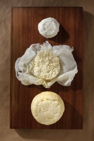 DIY cheeses, from top: chevre, queso fresco and ricotta salata. Photo: Craig Lee, Special To The Chronicle