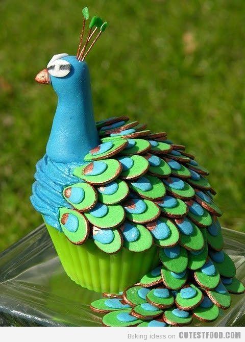 Peacock cake too cute