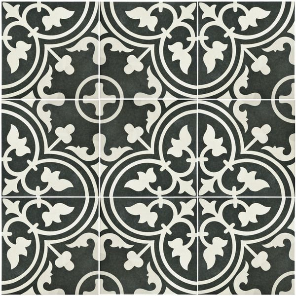 SomerTile 9 5x9 5 inch Art Black Porcelain Floor and Wall Tile  Case. 17 Best ideas about Black And White Tiles on Pinterest   Black and