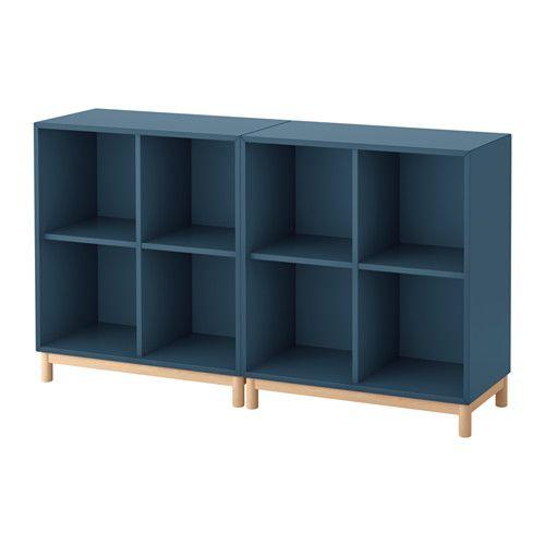 EKET Skåpkombination med ben - mörkblå - IKEA