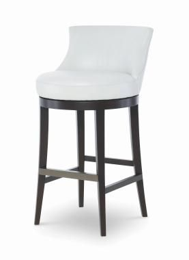 PLR-3855B-PAPYRUS - Leather Swivel Bar Stool