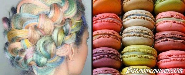 2016 Saç Modası Makaron Saçlardan Örnekler - http://www.bizkadinlaricin.com/2016-sac-modasi-makaron-saclardan-ornekler.html  Saç Stilisti ve Renk Uzmanı Shelley Gregory yeni bir saç stili akımı başlattı. 2016 Saç modası makaron saçlardan örnekler resim galerimizde makaron kurabiyelerden ilham alınarak ortaya çıkmış bir akımdan resimleri görebilirsiniz. Bu saçlar oldukça renkli ve çekici! Makararonların tadı acıbadem kurabiyelerine benziyor fakat