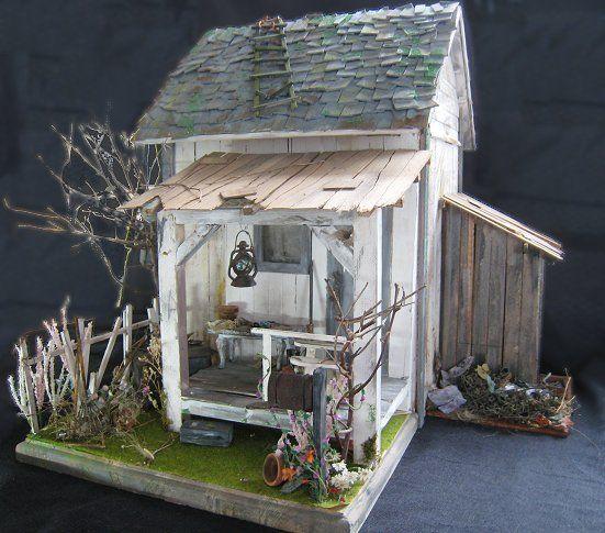 Miniature Garden Potting Shed. See More. Minnan Nukkekodit Ja Miniatyyrit