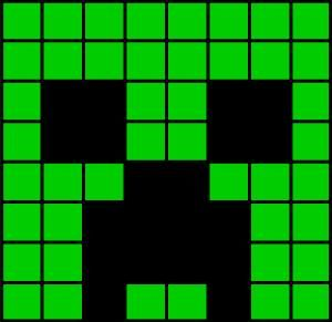 creeper head fuse bead pattern   Crochet   Minecraft ...