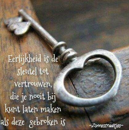 Eerlijkheid is de sleutel tot vertrouwen ...