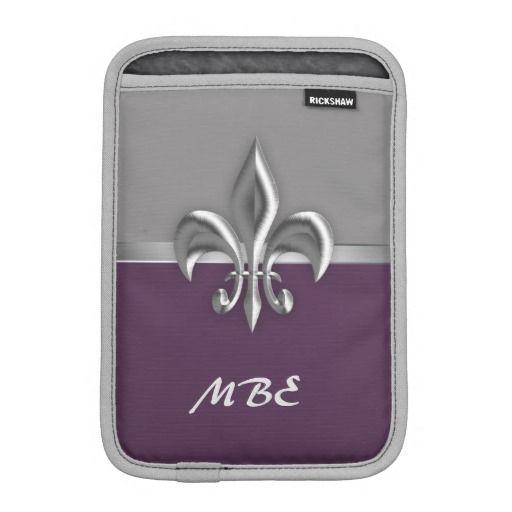 Purple Silver Fleur de Lis iPad Mini Sleeve #fleurdelis #purple #ipadmini  sc 1 st  Pinterest & 292 best Fleur de Lis images on Pinterest | Black gold Pouches and ...