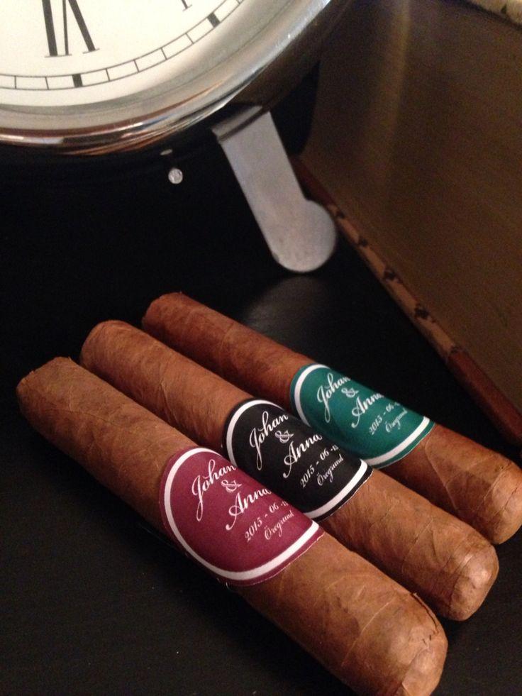 Cigar label  for wedding. DIY ideas label