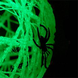 This is probably one of the easiest crafts I've made and I even got the kids involved.: Spiders Ball, Glow In Dark, Dark Spiders, Kids Crafts, Glow In The Dark, Dark Ball, Awesome Parties, Halloween Ideas, Spiders Web