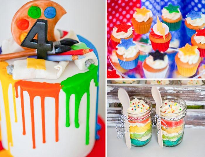 Superhero Art Party with The Flash Full of Awesome Ideas via Kara's Party Ideas | KarasPartyIdeas.com #TheFlashParty #SuperheroParty #ArtPar...