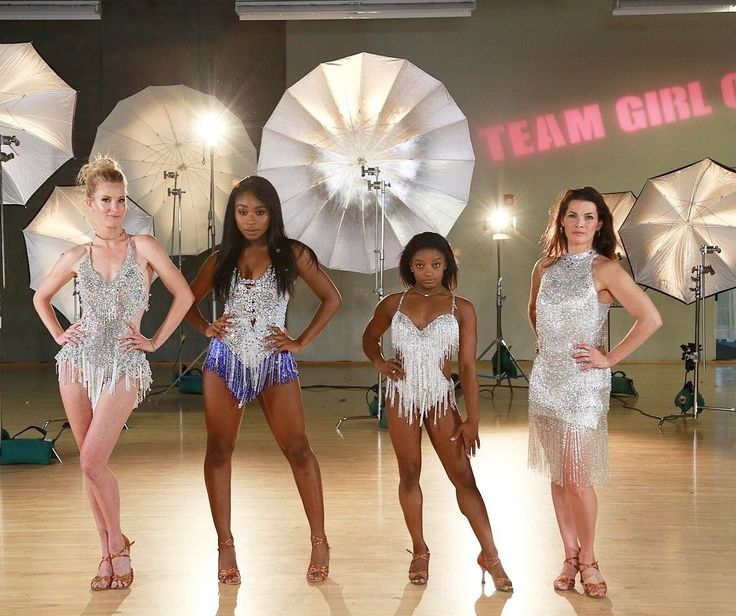 Normani with @HeatherMorrisTV, @Simone_Biles and @NancyAKerrigan on @DancingABC's Instagram post