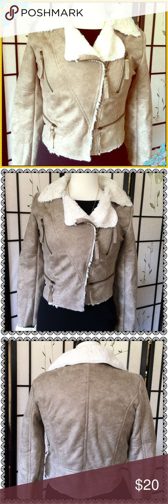 Urban Behavior Faux Suede/Shearling Bomber Jacket✨ Really Cute Faux Suede/Shearling Urban Behavior Bomber Jacket. Size is Medium but Runs Small. Fits more like a Small. Excellent Condition! ✨Like New!!✨ Urban Behavior Jackets & Coats