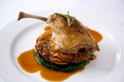 Crispy Duck Confit with Spinach & Sarladaise Potatoes