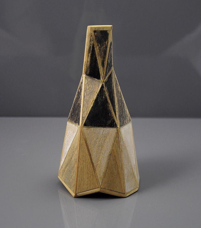 Tom Lauerman, Gemini, wood, ink, 2013