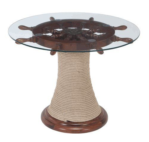 Wooden Wheel Table ~ Ideas about ship wheel on pinterest nautical