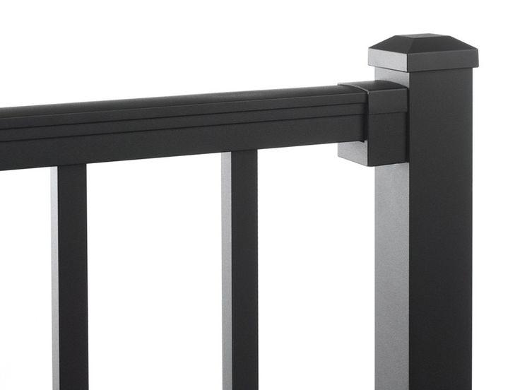 Image result for grey aluminum deck railing