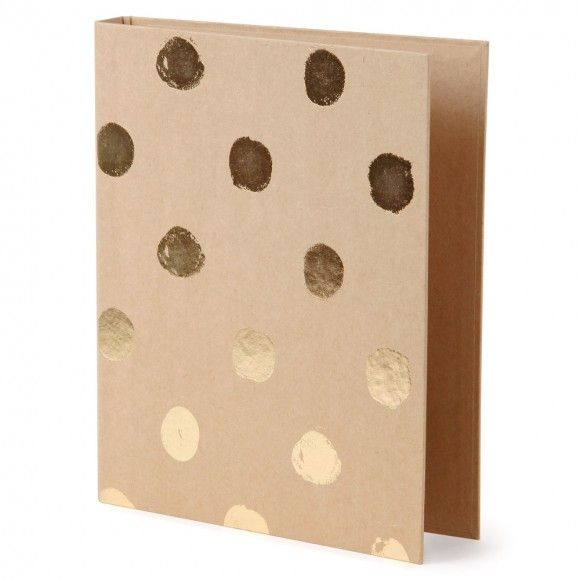 Big spot kraft ring binder