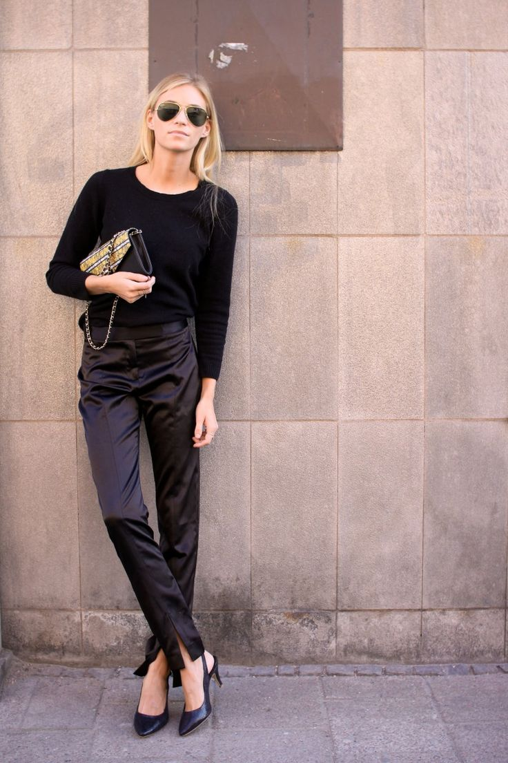 the silky pants. Tine in Stockholm. #FashionEaters