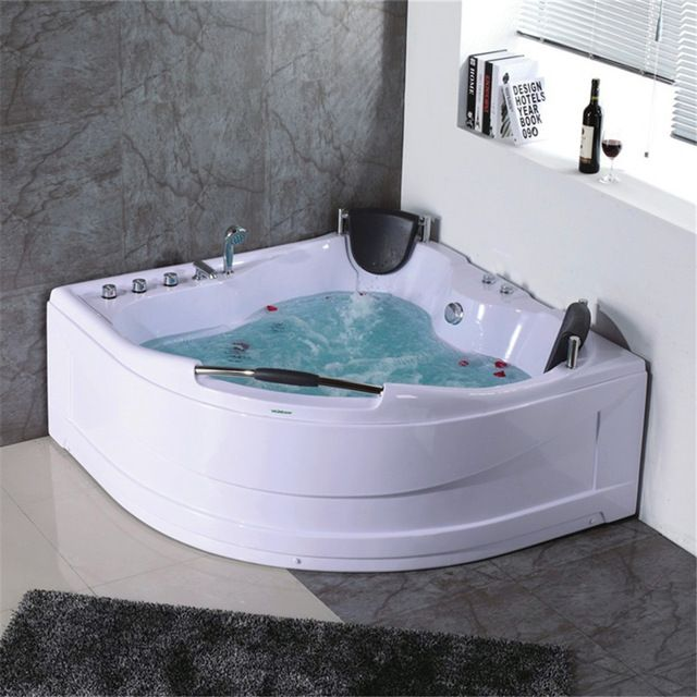 Chinese Factory Price Most Comfortable 2 Person Large Size 1 5m Abs Corner Hydromage Whirlpool Mage Bathtub